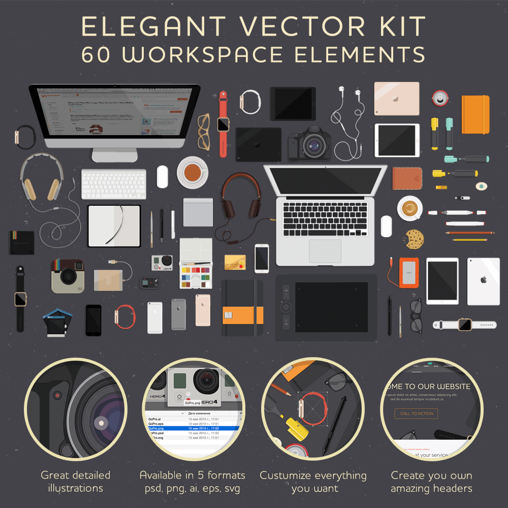 Main-Workspace-Elements-Vector-Kit-1000px