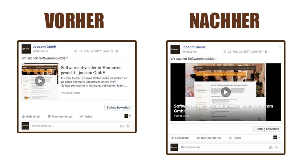 YT2FB - Voher/Nachher